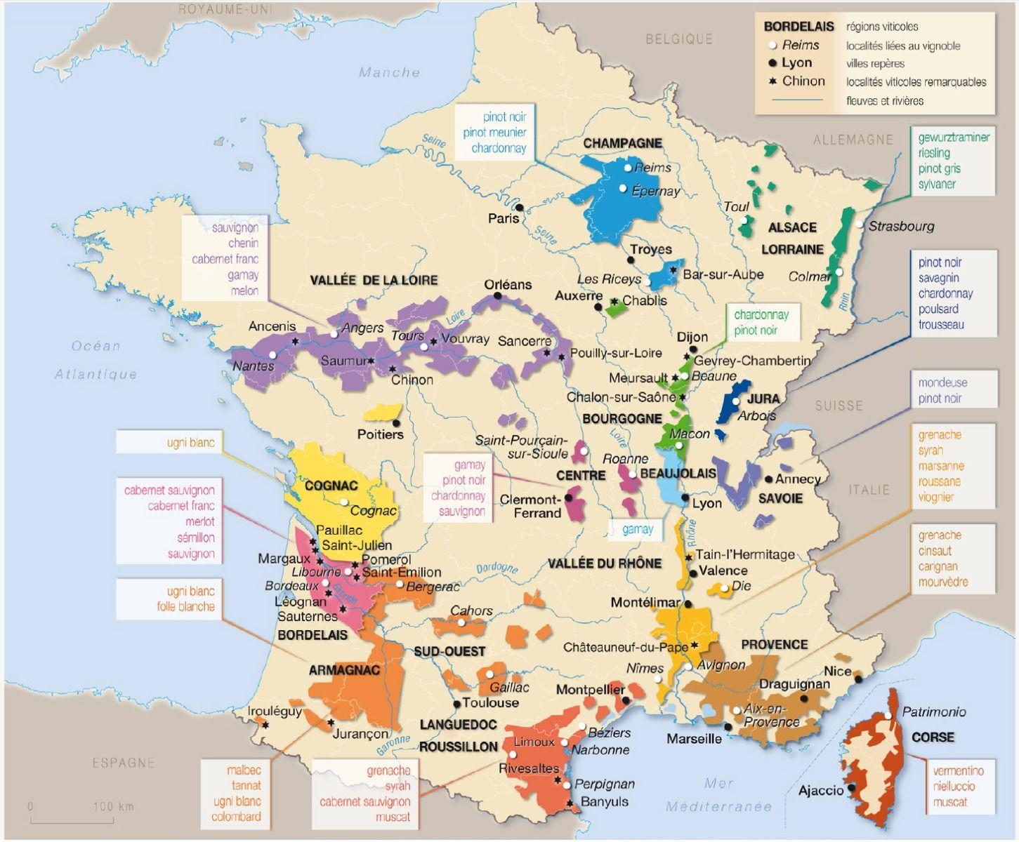 wijnkaart frankrijk