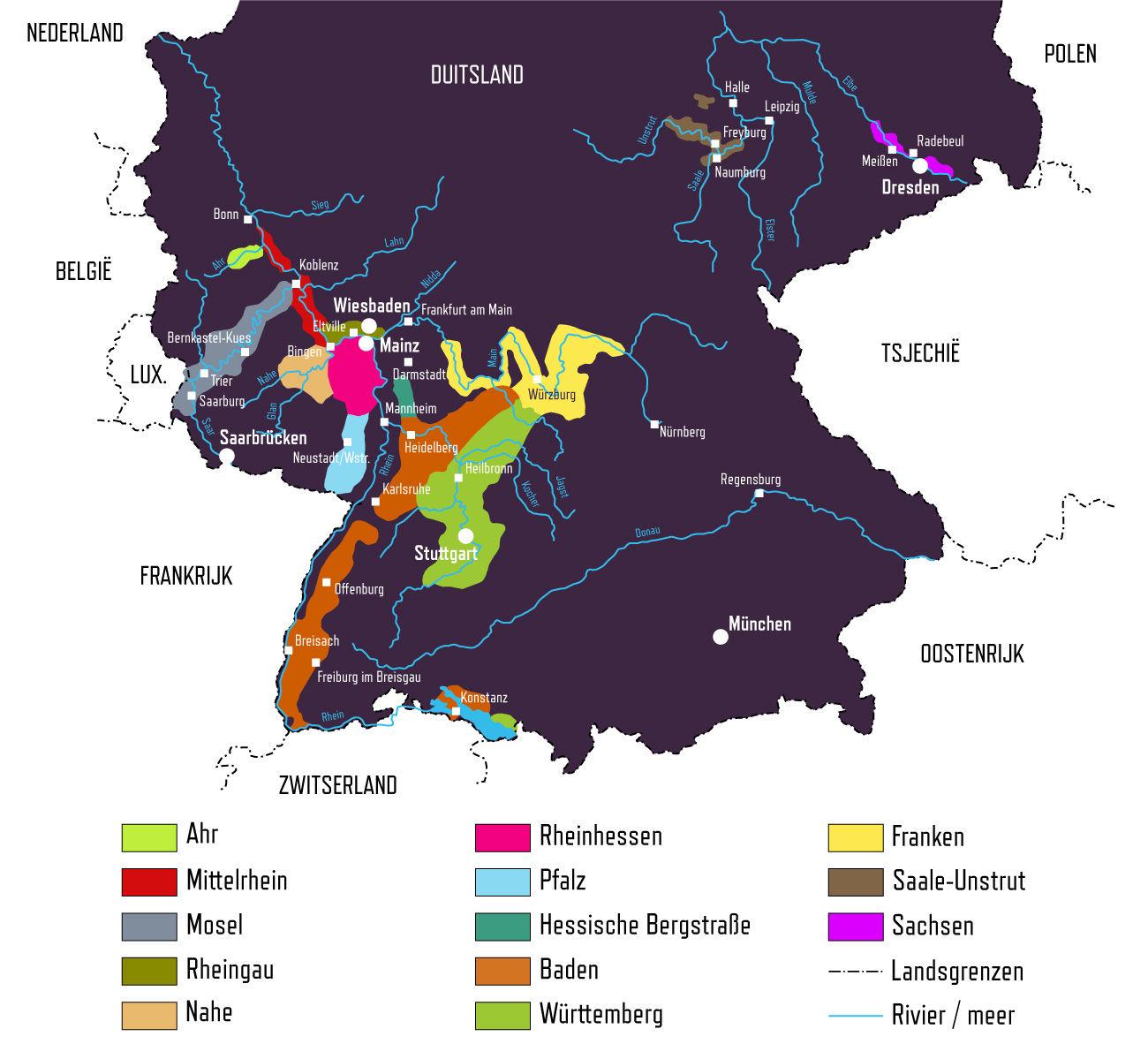 duitslands wijngebieden